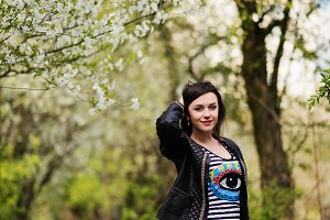 Brunette model girl