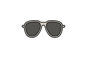Pinhole glasses color icon