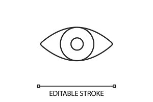 Human eye linear icon