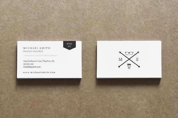 Classic resume business card pack resume templates creative market colourmoves