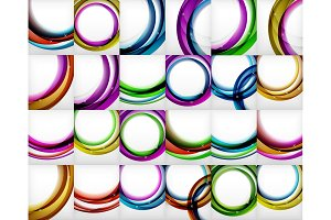 Vector circle swirl banners backgrounds