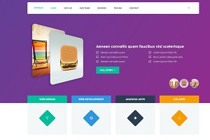 Optimus One Page Bootstrap Template