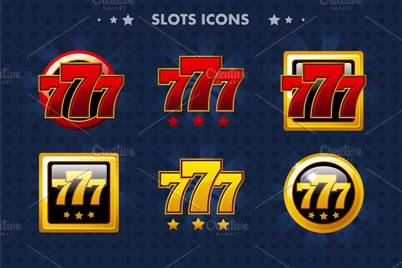 Slots 777 App Icon Glossy Objects For Asset Game And GameTwist