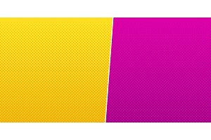 Yellow pink halftone background vector