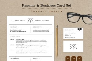 Classic Resume & Business Card Pack