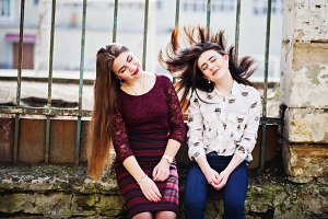 Two young teenages girl