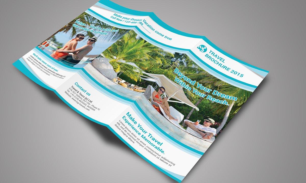 travel tri fold brochure 01 brochure templates creative market