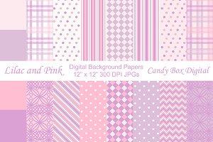 Lilac and Pink Background Papers