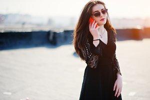 Street fashion model.