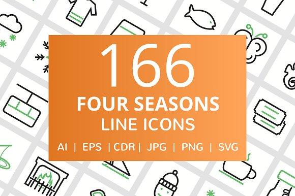 166 Four Seasons Line Icons