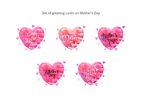 Set greeting cards on Mother's day