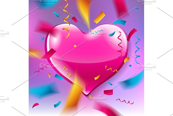 Pink Heart Banners
