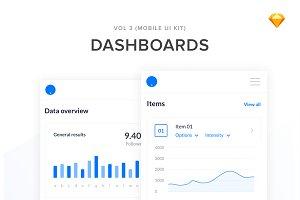Mobile SaaS Dashboards UI Kit