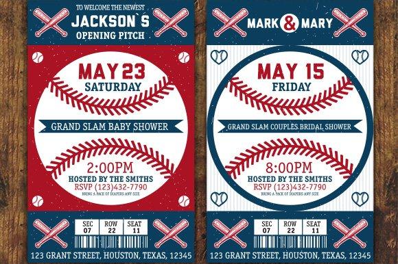 Baseball labels and badges. Set 4 - Illustrations