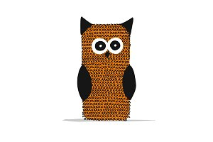 Knitting owl for your design