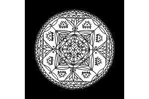 Mandala ornament, hand made sketch for your design