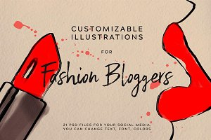 FASHION SKETCH for FASHION BLOGGERS.