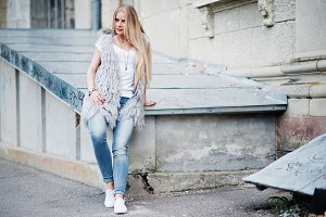 Stylish blonde woman