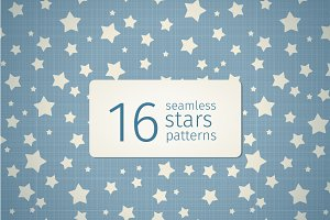 16 seamless stars patterns