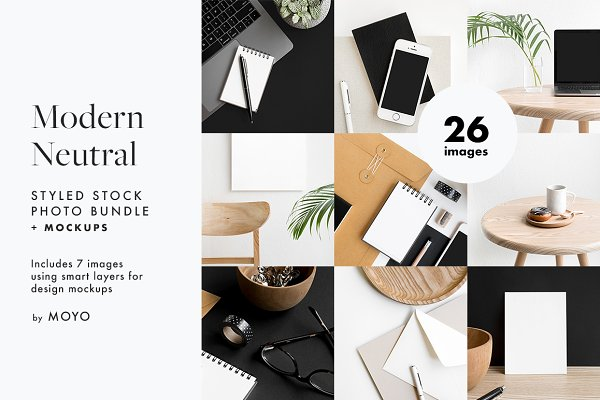 Modern Neutral Photos & Mockups