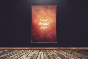 Poster in Frame Mock-up 25