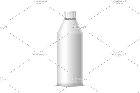 Cool Realistic White Plastic Bottle