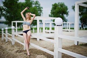 female model in swimmwear