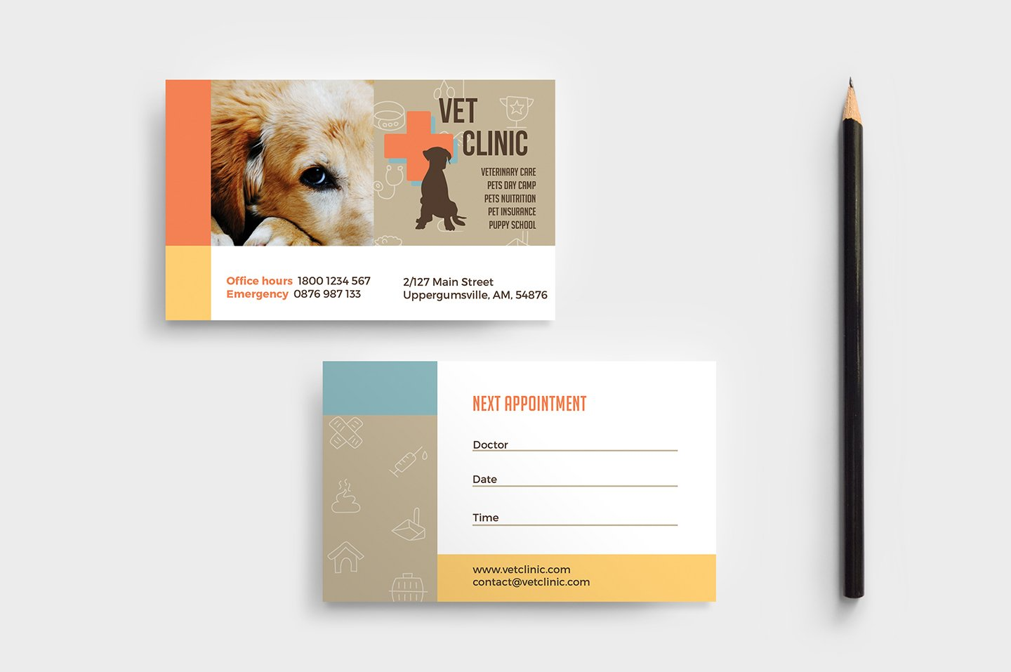 Vet Clinic Business Card Template ~ Business Card Templates ...