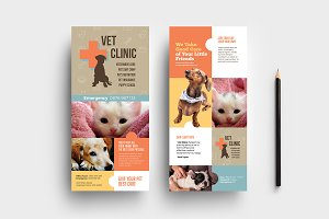 Vet Clinic DL Card Template