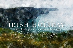Irish Holiday Watercolor Landscapes