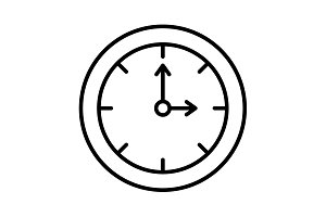 Clock line icon. vector illustration