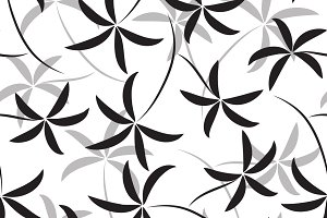 Bamboo seamless patterns