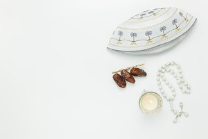 Top view Ramadan Kareem.
