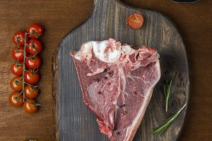 Raw fresh meat T-bone steak