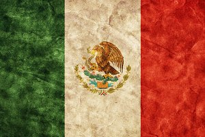 Mexican grunge flag. Vintage style