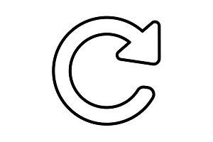 reload line icon. Refresh symbol