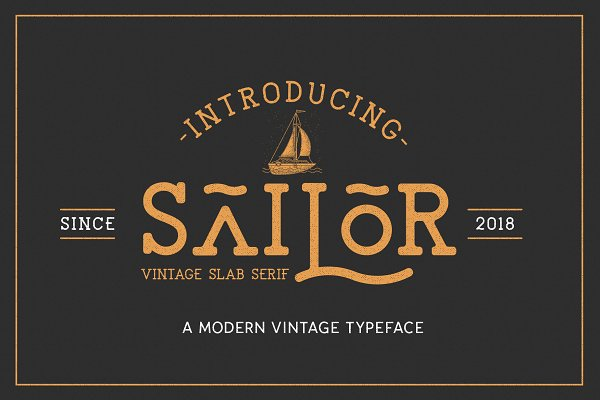 Slab Serif Fonts: NEWFLIX.Bro - The Sailor Typeface
