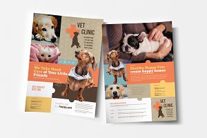 A4 Vet Clinic Poster Template
