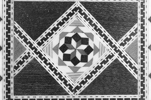 Wooden Marquetry in Black and White