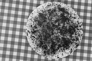 Chocolate Cake in Black and White