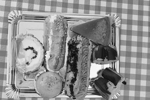 Bakery Sweets in Black and White