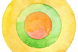 circle watercolor painting