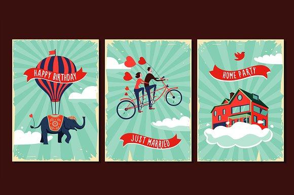 Vintage Cards Set