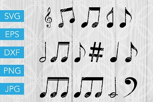 Music Notes SVG Cutting File