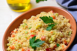 Delicious vegetarian couscous