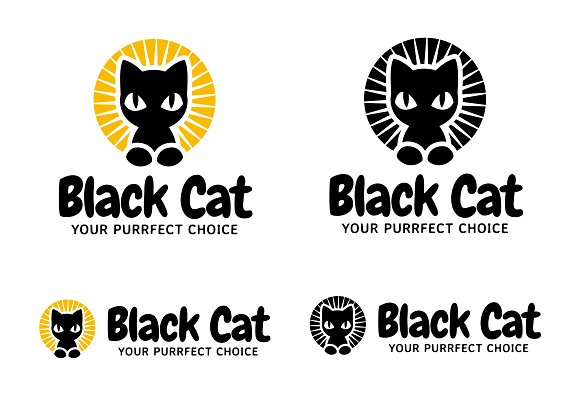 Black Cat Logo Your Purrfect Choice