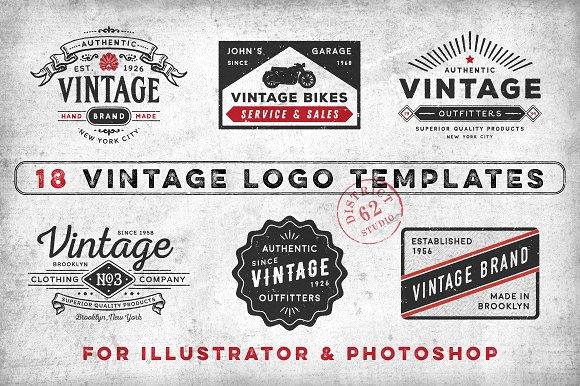 vintage logo templates logo templates creative market