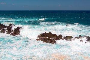 Crashing waves in Madeira