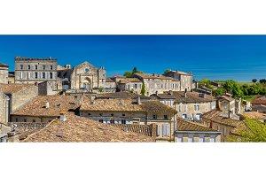 Cityscape of Saint-Emilion town, a UNESCO heritage site in France