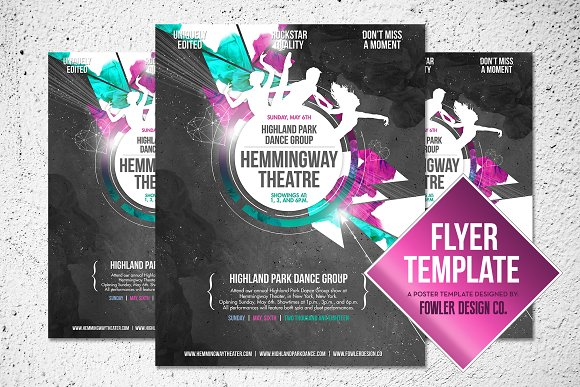 Dance Group Flyer Poster Template